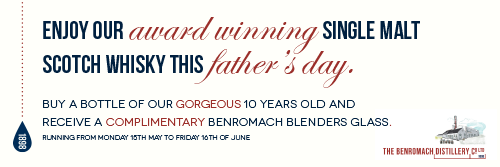 Benromach 10 year old malt plus Glass offer