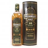 Bushmills 10 year old Irish Whiskey triple distilled Single Malt available to buy online from specialist whisky shop whiskys.co.uk Stamford Bridge York