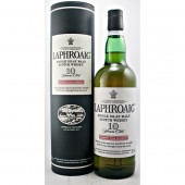 Laphroaig Cask Strength Malt Whisky old style label and tube available to buy online at specialist whisky shop whiskys.co.uk Stamford Bridge York