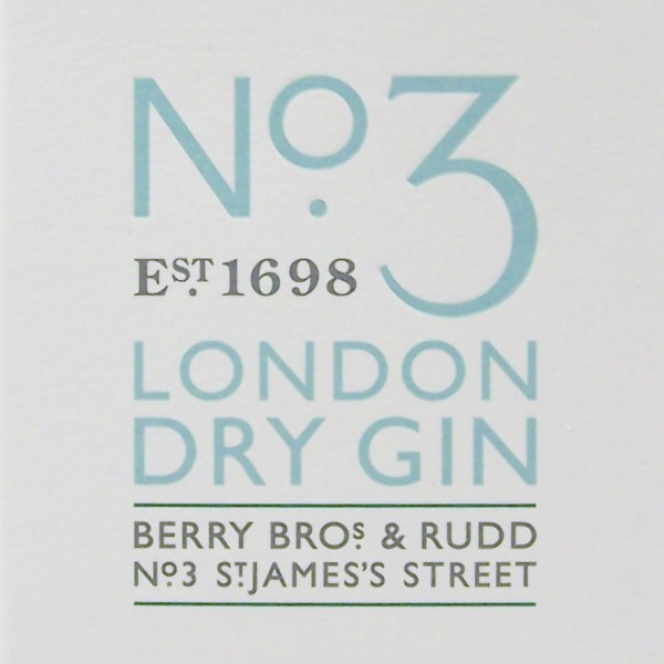 No3 London Dry Gin Berry Bros