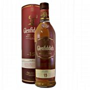 Glenfiddich 15 year old Malt Whisky matured in three types of oak cask: sherry, bourbon and new oak buy online at whiskys.co.uk Stamford Bridge York