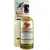 English Whisky Chapter 15 heavily peated single malt at 5 years old available from the specialist whiskyshop at whiskys.co.uk Stamford Bridge, York