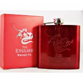 English Whisky Hip Flask 6oz Stainless Steel available from whiskys.co.uk