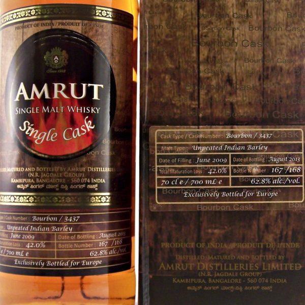 Amrut Bourbon Cask Indian Single Malt Whisky