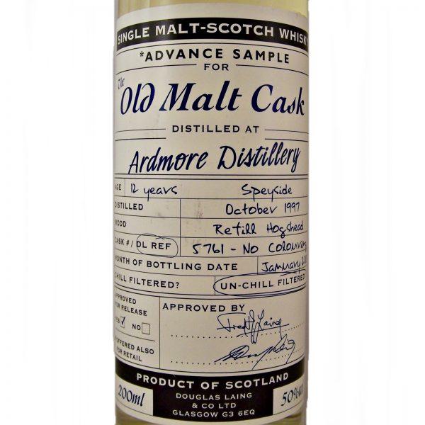 Ardmore Advance Sample Old Malt Cask 1997