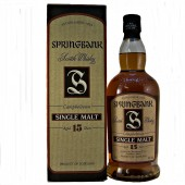 Springbank 15 year old Malt Whisky (old Style)