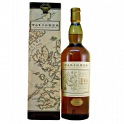 Talisker Scotch Whisky old style map label 10 year old