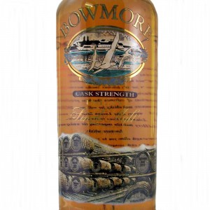 Bowmore Cask Strength Screen Print Malt Whisky Label