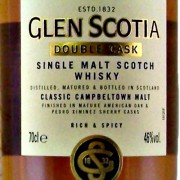 Glen Scotia Malt Whisky Double Cask label