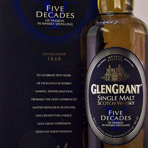 Glen Grant Five Decades Single Malt Whisky