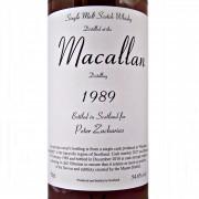 Macallan 1989 Single Malt Whisky