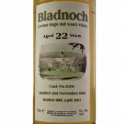 Bladnoch 22 year old
