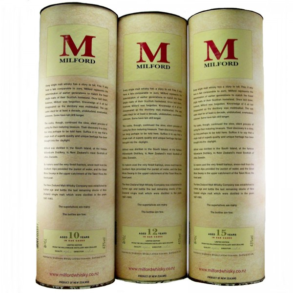 Milford Single Malt Whisky Set