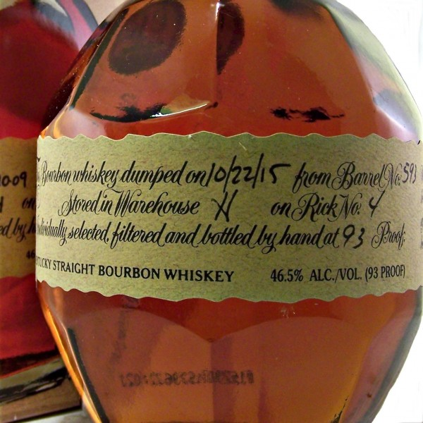 Blantons Original Bourbon whiskey