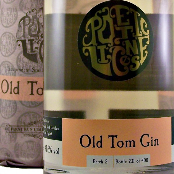 Poetic License Old Tom Gin small batch