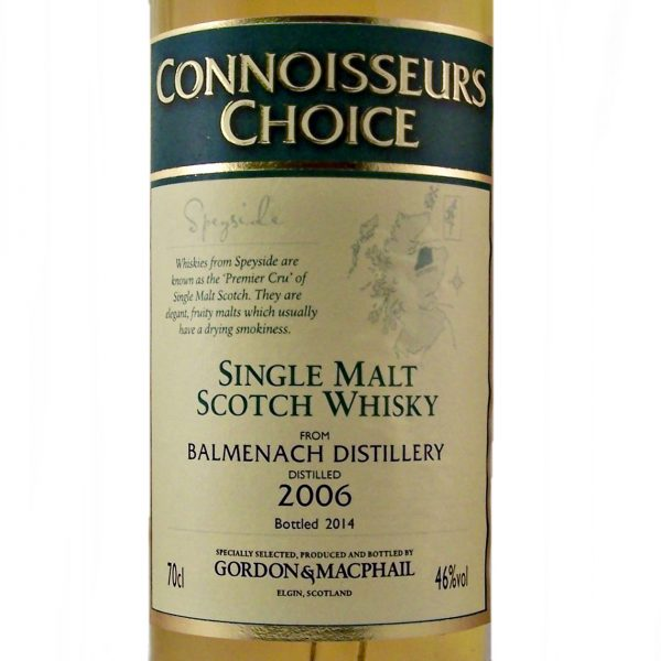 Balmenach Single Malt Whisky 2006 Connoisseurs Choice