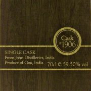 Paul John Single Cask 1906 Indian Whisky