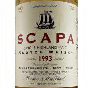 Scapa 1993 Vintage Single Malt Whisky