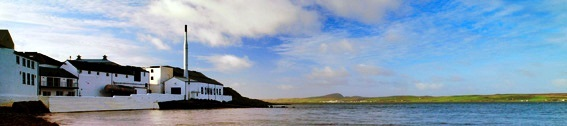 Bowmore whisky distillery Seascape