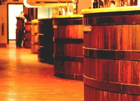 Bowmore Whisky Distillery wash backs