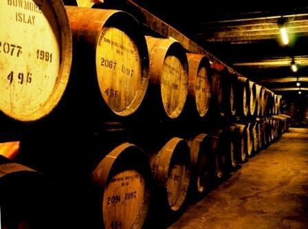 Bowmore Whisky Distillery warehouse