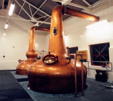 Benromach Whisky Distillery Still house