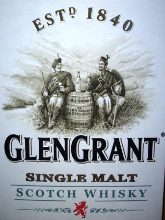 Glen Grant Whisky Distillery Label