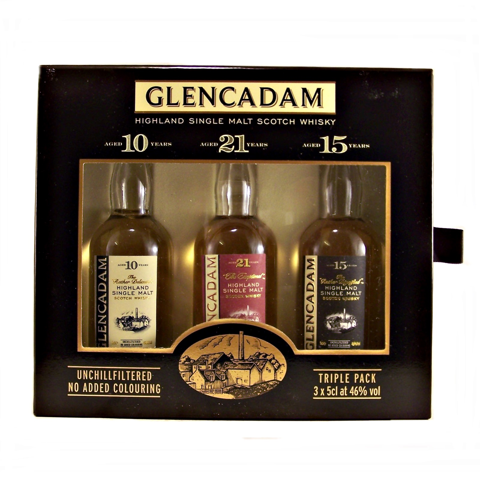 glencadam miniature whisky gift set with 3 different single malt whiskies. Black Bedroom Furniture Sets. Home Design Ideas