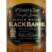 Black Barrel Single Grain Whisky Grants