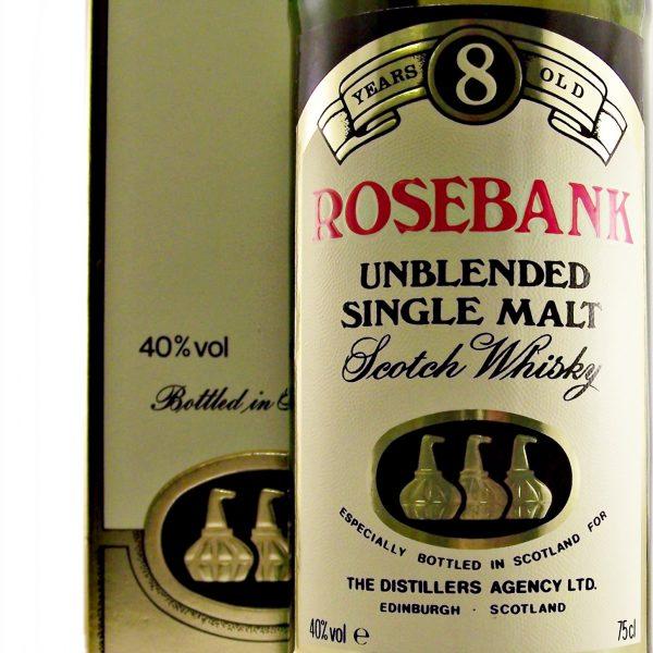 Rosebank 8 year old Single Malt Whisky closed distillery