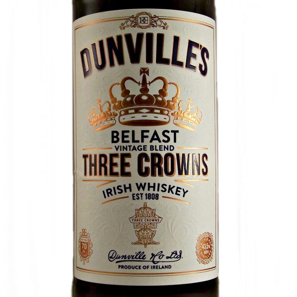 Dunvilles Three Crowns Irish Whiskey Belfast