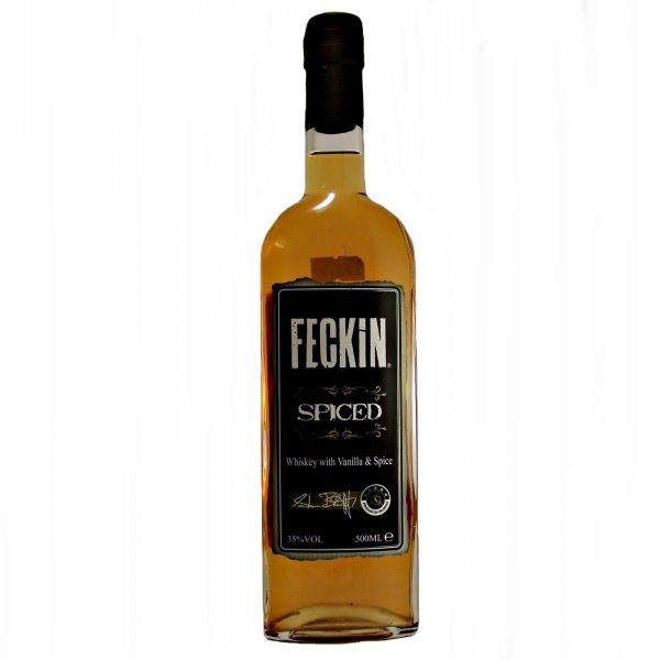 Feckin Spiced Irish Whiskey and vanilla spice