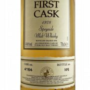 Glenlossie First Cask 1978 single malt whisky