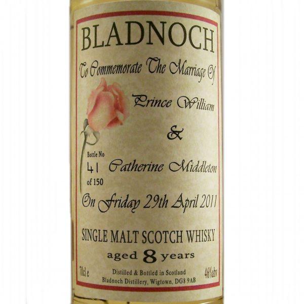Bladnoch 8 year old Royal Wedding Malt Whisky