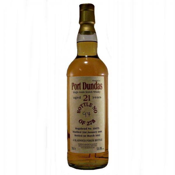 Port Dundas 21 year old Single Grain Whisky