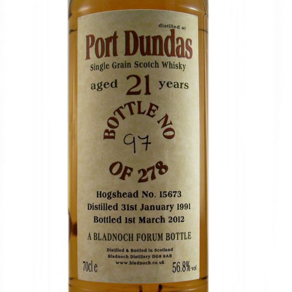 Port Dundas 21 year old Single Grain Whisky Bladnoch Forum