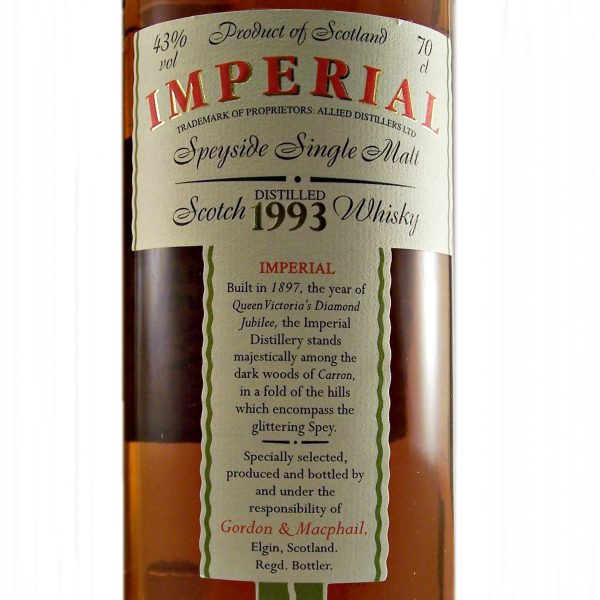 Imperial Single Malt Whisky 1993 Vintage