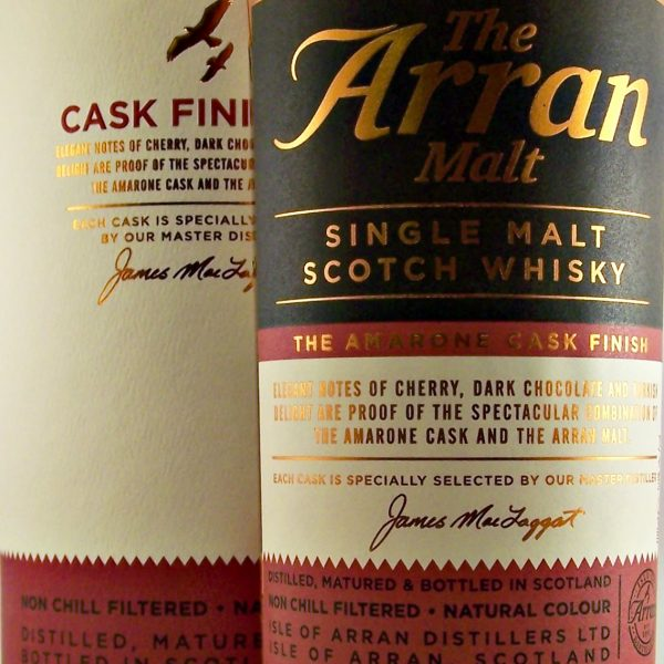Arran Amarone Cask Finish single malt whisky