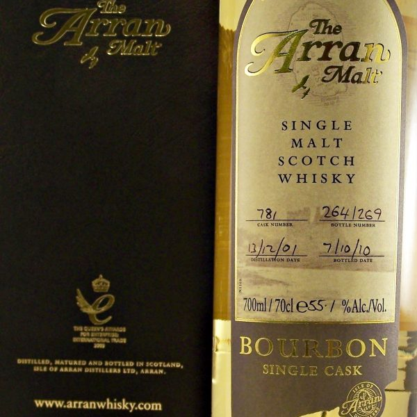 Arran Bourbon Single Cask Malt Whisky