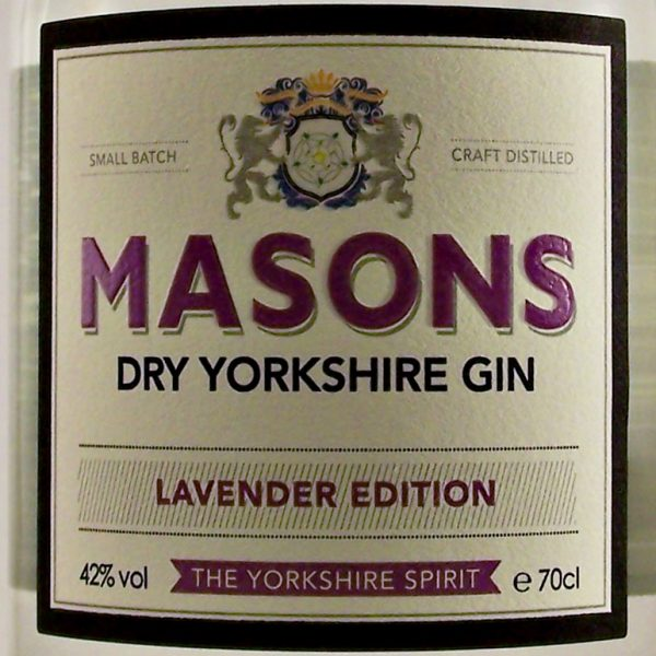 Masons Dry Yorkshire Gin Lavender Edition small batch