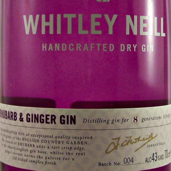 Whitley Neill Rhubarb & Ginger Gin small batch