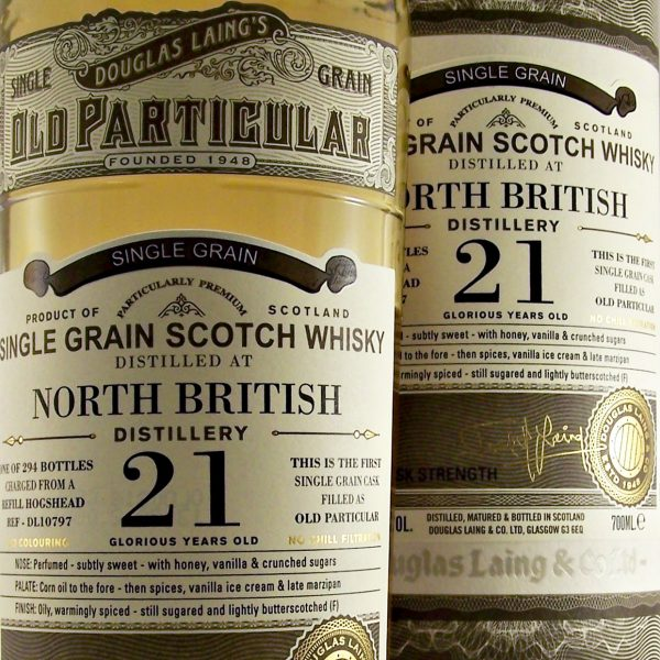 North British Old Particular 21 year old Single Grain Whisky