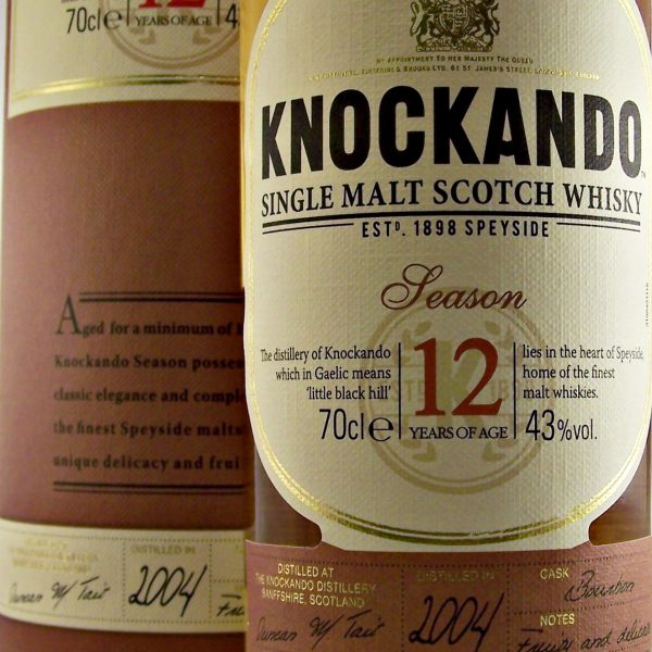 Knockando 12 year old 2004 Vintage Single Malt Whisky