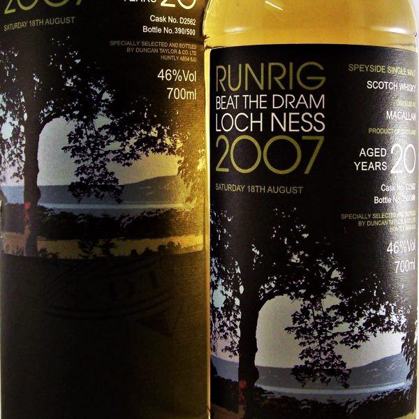 Macallan 20 year old Runrig Beat the Dram Loch Ness 2007