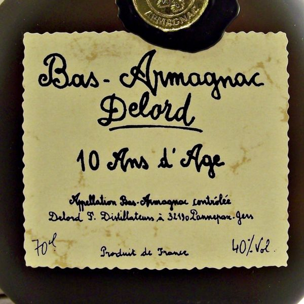 Delord 10 year old Bas-Armagnac French Brandy