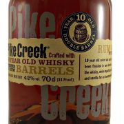 Pike Creek Canadian Whisky rum barrel finish