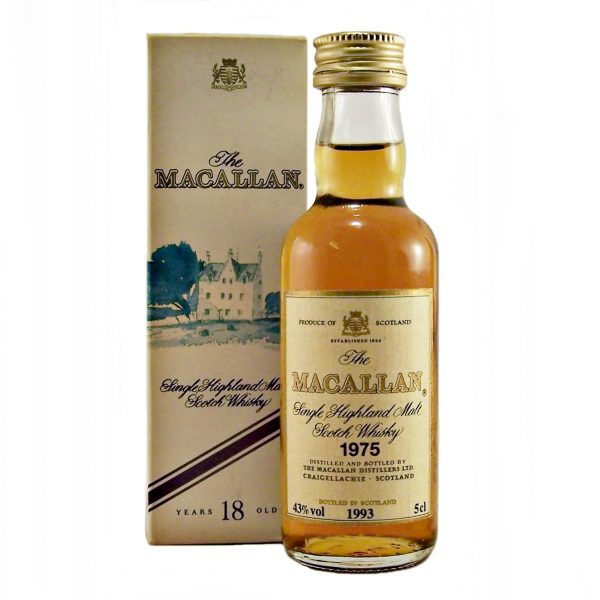 Macallan 18 year old 1975 Miniature Whisky