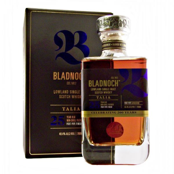 Bladnoch Talia 25 year old Finished in Port Pipes