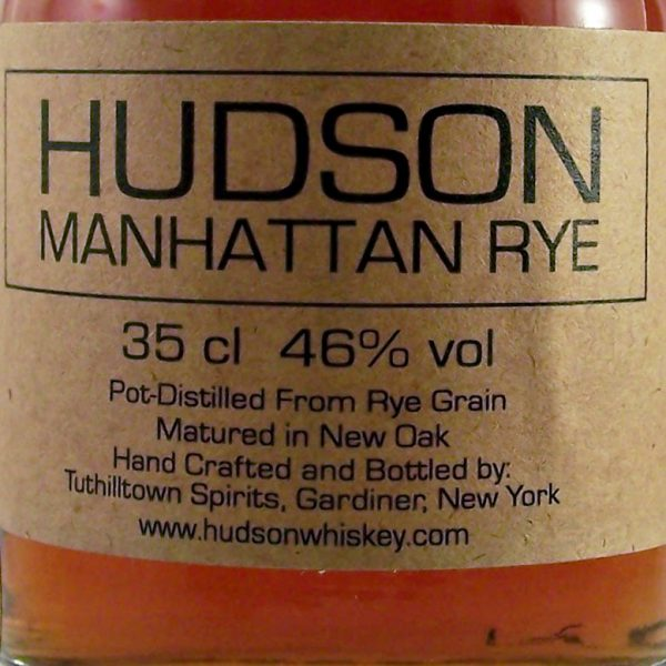 Hudson Manhattan Rye New York Pot-distilled whiskey