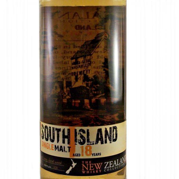 South Island 18 year old New Zealand Single Malt Whisky